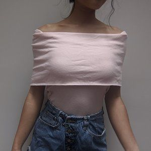 Zara Pink Off the Shoulder Top